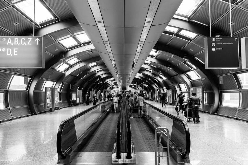 Beam Blackandwhite Architecture Airport People Streetphotography