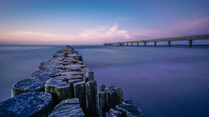 Epic Sky at the Beach of Kühlungsborn Baltic Sea Architecture Beauty In Nature Bridge Bridge - Man Made Structure Built Structure Cloud - Sky Connection Horizon Horizon Over Water Idyllic Nature No People Outdoors Purple Scenics - Nature Sea Sea And Sky Seabridge Sky Sunset Sunset #sun #clouds #skylovers #sky #nature #beautifulinnature #naturalbeauty #photography #landscape Tranquil Scene Tranquility Water