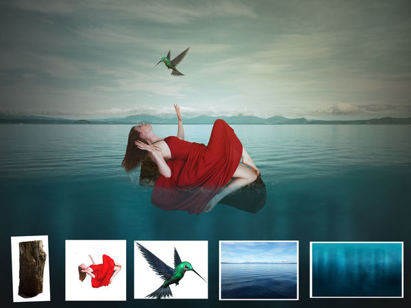Manipulated manipulation Full Length Flying Water Freedom Jumping Young Adult One Young Woman Only People Adults Only One Person One Woman Only Only Women Adult Technology Young Women Outdoors Day