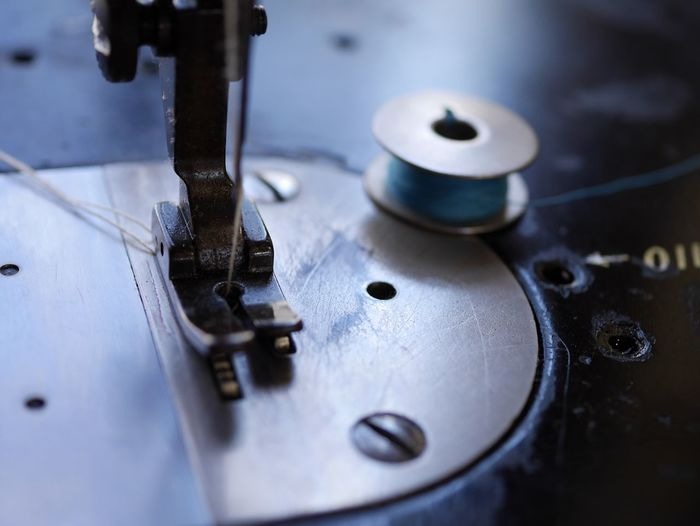 Cropped image of sewing machine