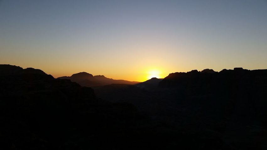 Sunset Nature Mountain Landscape Beauty In Nature Outdoors Silhouette Adventuretravel Middle East Jordan Petra Journey Travel Worldcaptures Wanderlust Explore Desert Scenics Minimalism