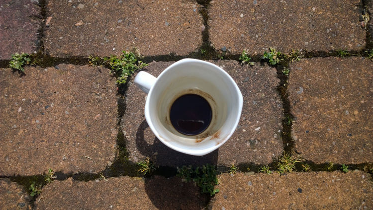 Cafexperiment Close-up Coffee Coffee - Drink Coffee Cup Cup Day Elevated View Growth No People Outdoors Overhead View Still Life