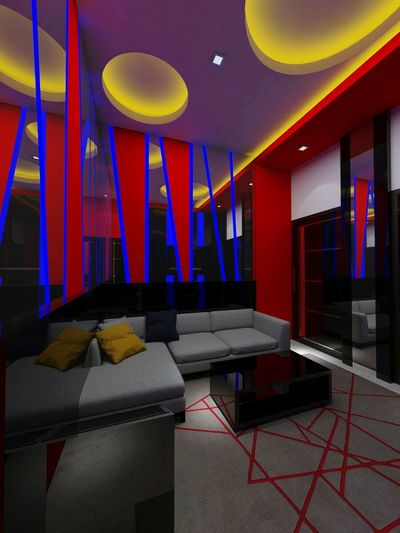 Indoors  Multi Colored Party - Social Event Arts Culture And Entertainment No People Architecture Built Structure