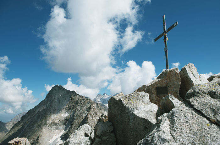 Mount Cima Alps, Italy Alps Italy Lombardy Ponte Di Legno Top Of The Mountain Trentino  Adamello Brenta Alpinism Alps Lombardy Cima Presena Get To The Top Goal Mountain No People Outdoors Peak Peak Reached Presena Reach The Summit Spirituality Summer Sports Summit Cross Symbol Tonale Top Of The Mountains
