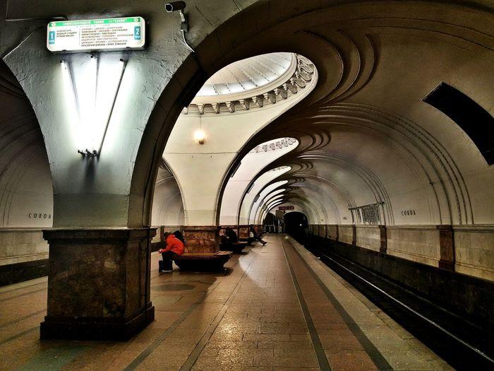 Moscow undrgrn. The Architect - 2018 EyeEm Awards Clock Full Length Arch Railroad Station Men Architecture Subway Platform Subway