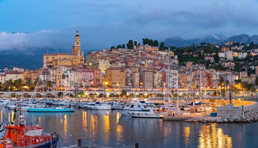 Menton in the early morning