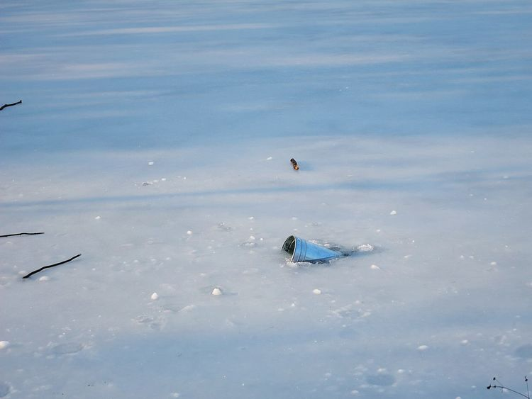 Frozen Lake Winter Wonderland Deceptively Simple Snowminimals