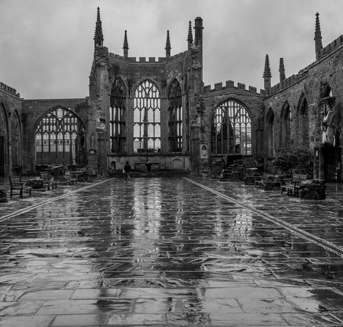 Coventry Cathedral ruins, Coventry Cathedral Coventry Cathedral - UK Blackandwhite Black And White Monochrome Street FUJIFILM X-T2 Coventry Architecture