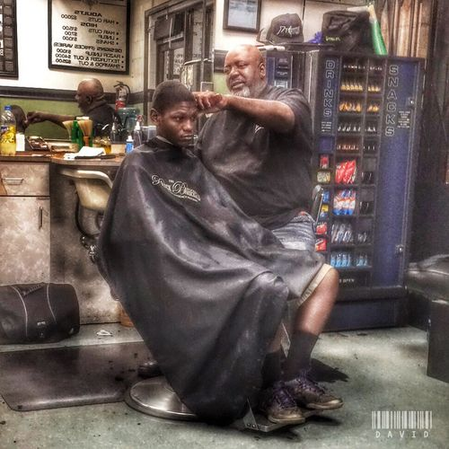 A busy Thursday at the shop. Barbershop People HDR Hdr_Collection