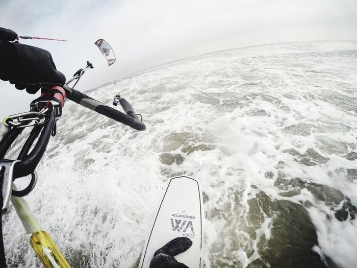 Kitesurf Kite Kiteboarding Kitesurf Kitesurfing Kiteboard Surfing Surf Waveboard kitewaveboard Motion Sea Sport Adventure Water Wave Nature Extreme Sports Day Men One Person Real People Outdoors Sky Horizon Over Water Beauty In Nature Human Hand People Done That.