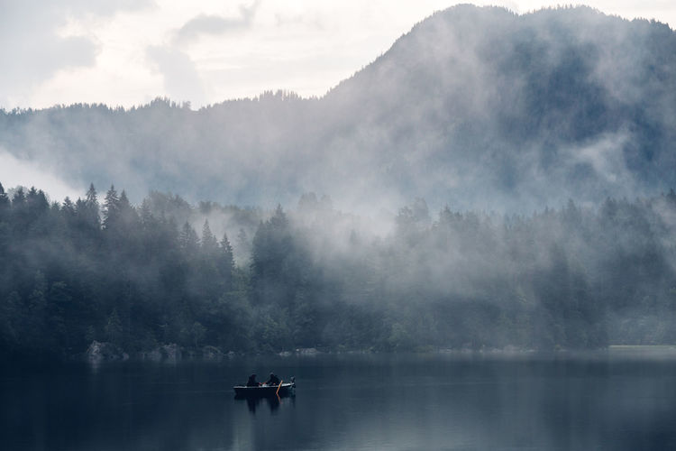 Alpen Hintersee Nebel Beauty In Nature Cloud - Sky Day Fog Lake Mode Of Transportation Nature Nautical Vessel Non-urban Scene Outdoors Plant Ramsau  Scenics - Nature See Sky Tranquil Scene Tranquility Transportation Tree Water Waterfront