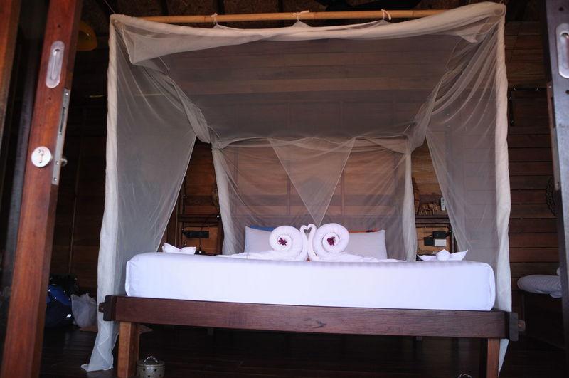 Swan Shape Towel On Bed