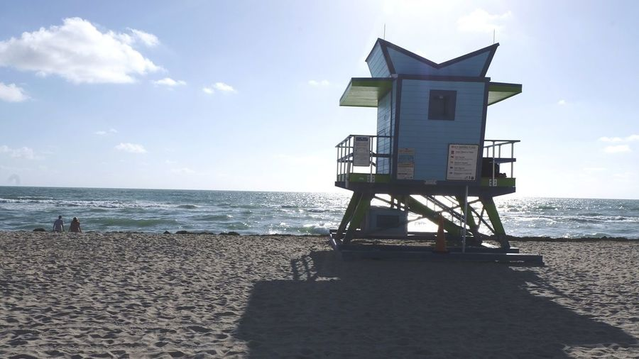 Water Sea Beach Sand Lifeguard  Lifeguard Hut Summer Protection Rescue Safety Surf Shore Horizon Over Water Sandy Beach