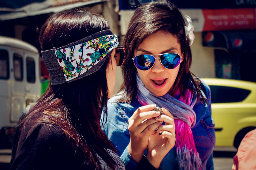 Surprise... Happiness Hippielife Lifestyles Long Hair Person Portrait Sunglasses Surprise Young Women