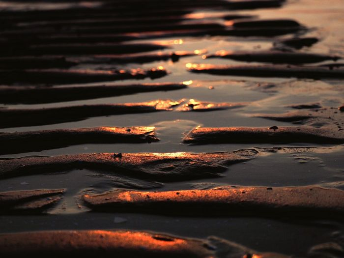 Nature Sunlight Sunset Shadow Land No People Water Beach Sand Reflection Outdoors Beauty In Nature Wet