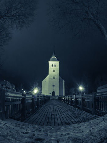 Night Tree Illuminated Built Structure Building Exterior Architecture Winter No People Outdoors Viljandi  Church FishEyeEm Fisheye Olympus E5 Travel Destinations At Night Nightphotography Night Photography