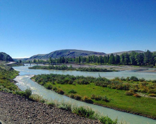 горныйАлтай горы Алтай Clear Sky Water Beauty In Nature Mountain River Nature First Eyeem Photo