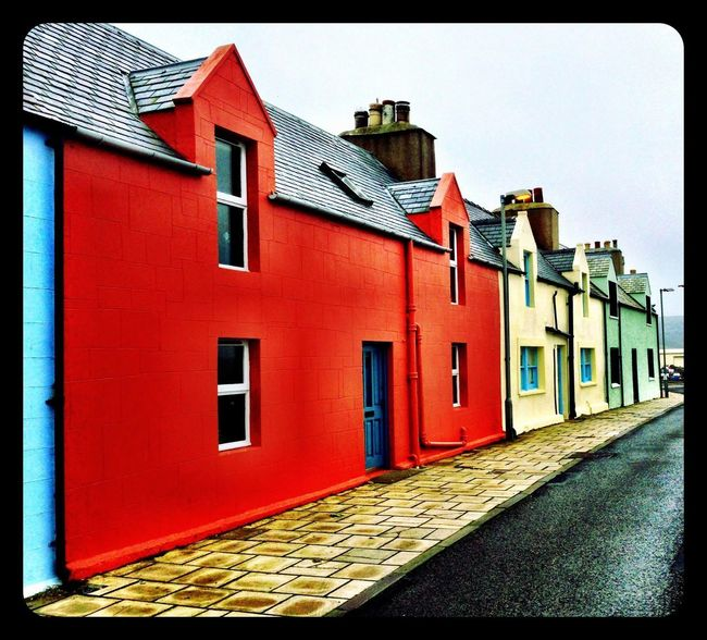 Houses of colour, Scalloway, Shetland IPhoneography Camera Plus Shetland Islands Shetland Scalloway Building Exterior Architecture Built Structure Building Auto Post Production Filter Transfer Print Day Residential District House No People Street Sky Window Red Outdoors Clear Sky