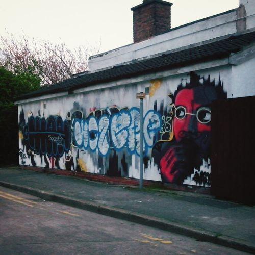 Somewhere in Hull. Eye Em! Grafiti Art Hull