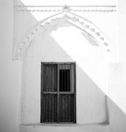 old Town Window Architecture Old Buildings Frame Cityscape Colors Architecture Blackandwhite Blackandwhite Black & White B&w Whitewashed Window Door Architecture Building Exterior Built Structure