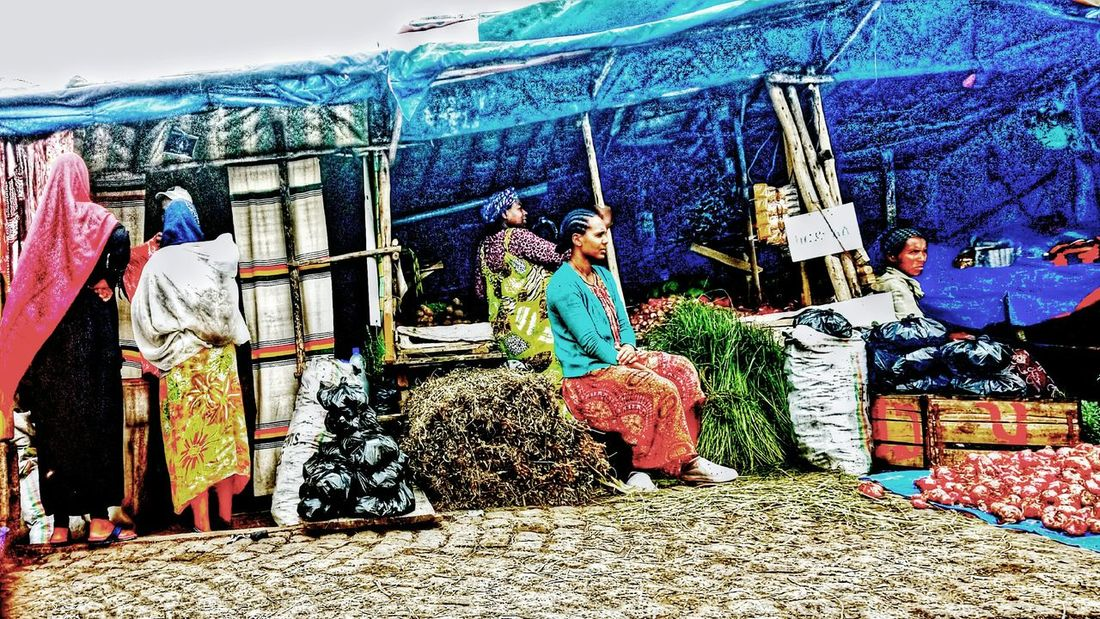 EyeEm Ready   Multi Colored Outdoors One Woman Alone Market In Ethiopia-AddisAbaba Daytime Photography