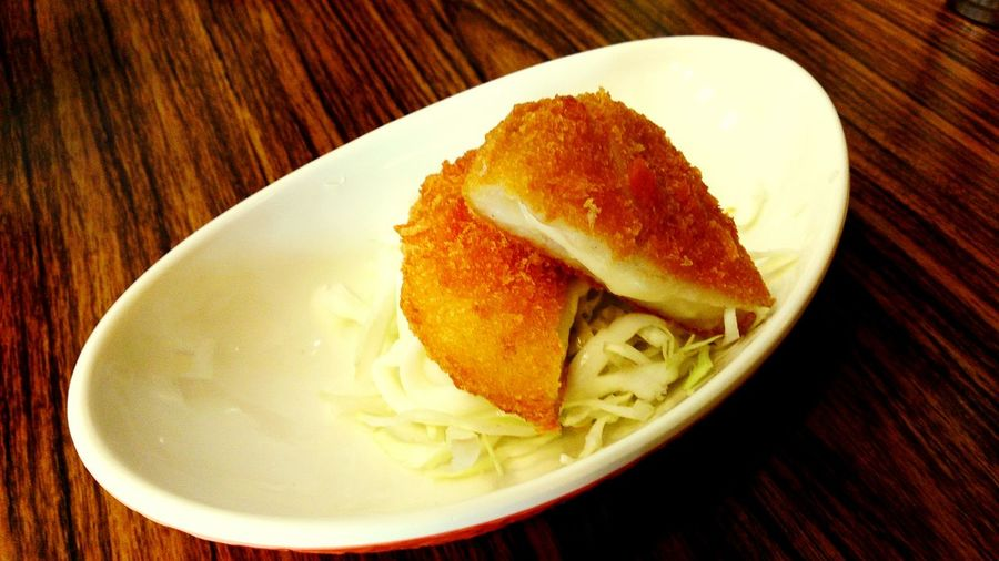 Cheese croquette. Delicious Food Lunch Time! Relaxing Weekend Enjoying Life Taking Photos Japanese Food The Foodie - 2015 EyeEm Awards