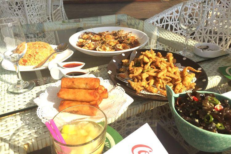 Chinese Food Guanilho Recomendado Aos Amigos Bom Almoço Copos Boa Vida