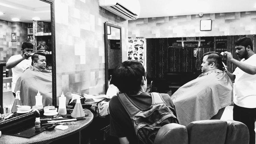 Barber Barber Shop Barbershop Black & White Black And White Blackandwhite Hair Cut Hair Cutting Indian Indian Barber Men Person Salon Sitting Monochrome Photography Monochrome Photograhy
