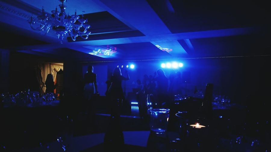 Blue Indoors  Nightclub Bar - Drink Establishment Arts Culture And Entertainment Nightlife No People Night Hotel Life Party All Night Party Time Partying Blue Color The Secret Spaces