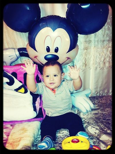My gordito after his 1st bday party