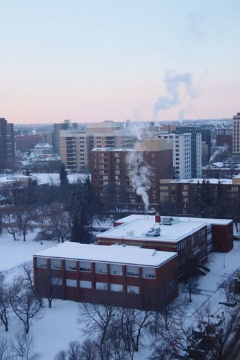 School Snow Architecture Winter Cold Temperature Built Structure Building Exterior City