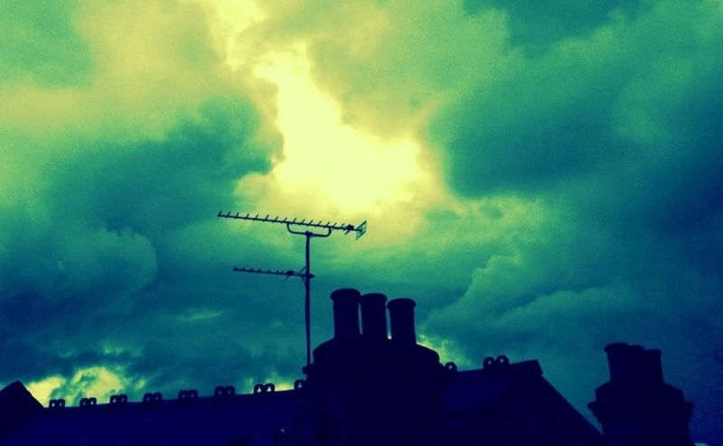 London, August 2010 Tags: sky, clouds, rooftop, cross process develop