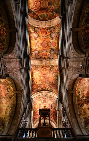 Inside Lamego Cathedral in the northern region of the Douro Valley in Northern Portugal. Arch Architecture Art Arts Culture And Entertainment Cathedral Ceiling Church Indoors  Lamego Light No People Painting Photography Place Of Worship Portugal Religion Spirituality Travel Travel Destinations Travel Photography