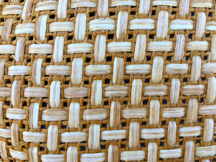 Full frame shot of wicker pattern