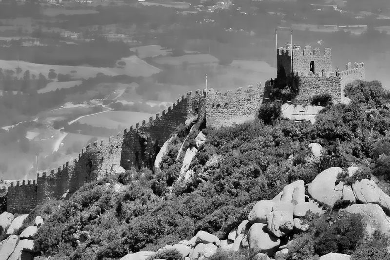 Sintra, Portugal No People Nature Old Castle Sintra Palace Park Sintracastle Architecture Ruins Bnw Blackandwhite