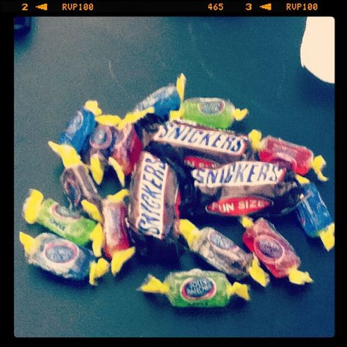 October30 Candy :D Snickers Jollyranchers <3