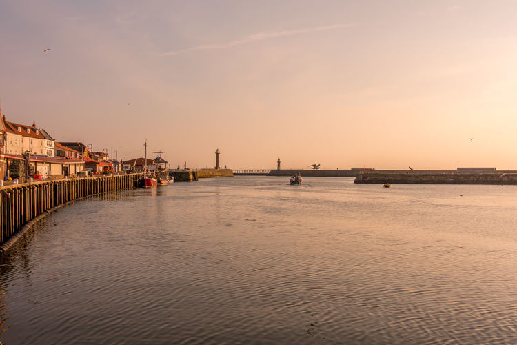 Whitby Whitby Harbour Whitby View Whitby North Yorkshire North Yorkshire Seaside Seaside Town Yorkshire Coast Tourist Destination No People Waterfront Sunset Sky Water Sea Nautical Vessel Tranquil Scene Beauty In Nature Outdoors Architecture Built Structure Land Scenics - Nature