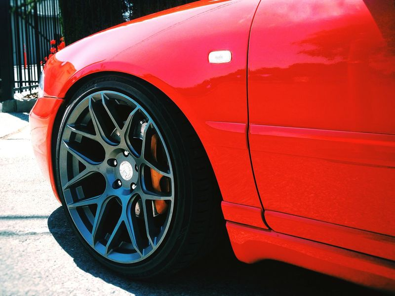 Red Tire Wheel Transportation Car Day No People Outdoors Audi Luxury Racecar Land Vehicle Automotive Photography Low Angle View Close-up Grainy Photo HighContrastPhotography Sky Transportation Red Ligth And Shadow Carenthusiastlifestyle Sport