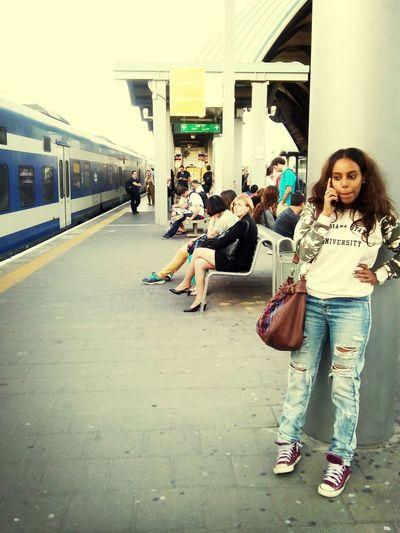 Traveling By Train Street Photography Waiting Eyeem Israel