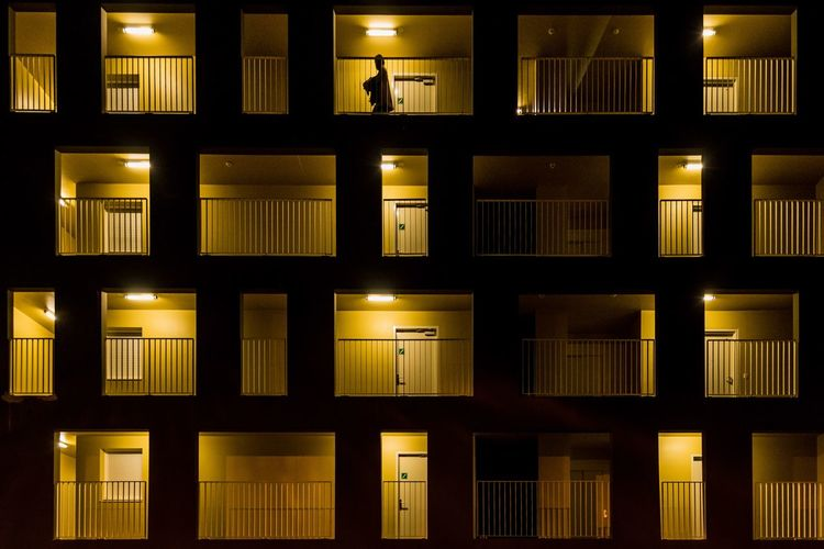 Yellow Blocks EyeEmBestPics Eye4photography  EyeEm Selects EyeEm Gallery The Architect - 2018 EyeEm Awards The Week on EyeEm EyeEm Best Shots Full Frame Backgrounds Architecture Building Exterior Built Structure Window Repetition Building