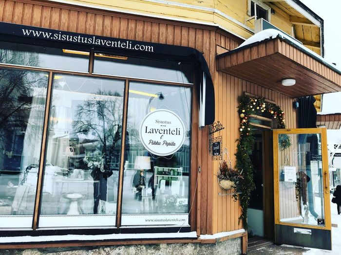 Зимняя Хамина❄️ ,Hamina in winter,Suomi, Hamina is beautiful☺️ Building Exterior Built Structure Architecture Text No People Day Communication Store Outdoors Wall - Building Feature Script Western Script Entrance Clock Door Non-western Script Building Window Sign City