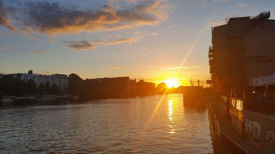 Berlin Sunset Oberbaumbrücke
