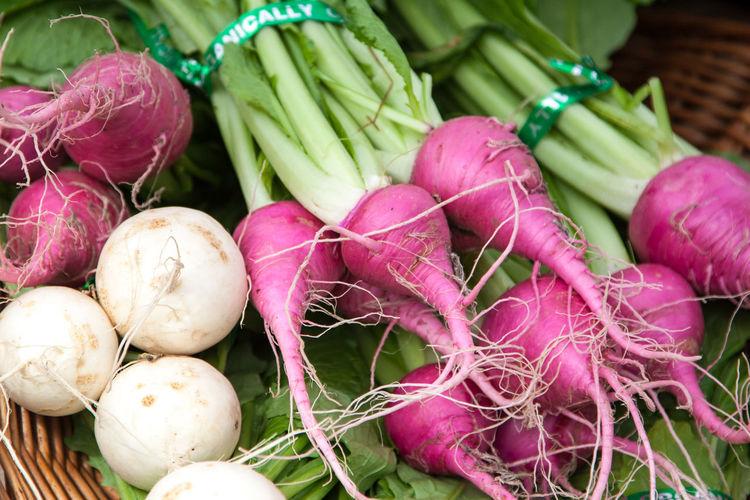 Close-up of radishes