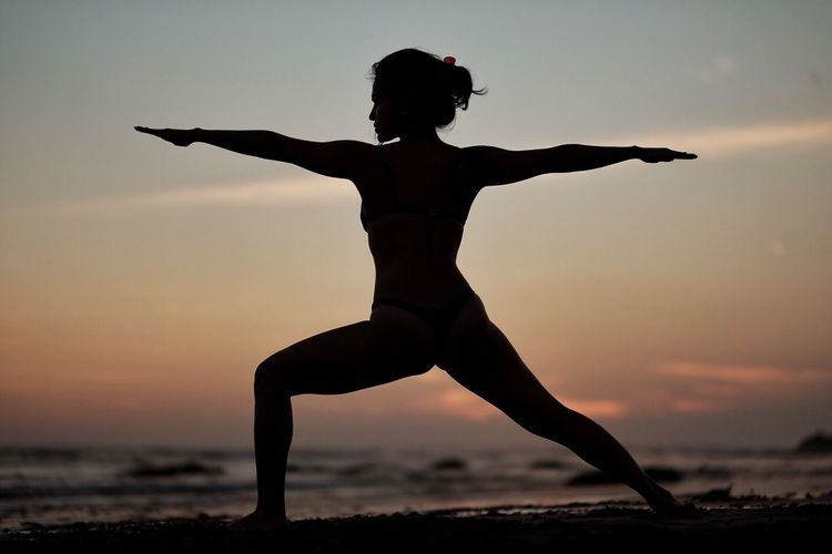 Bali Healthy Lifestyle Sunset Silhouette Yoga Pose Lifestyles Beach The Week On EyeEm