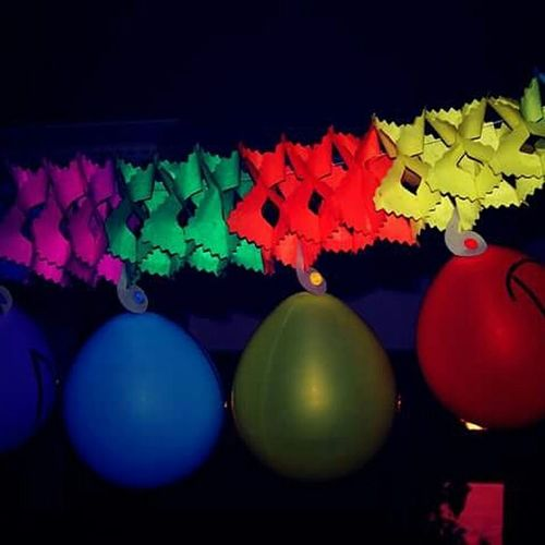 Colorful lights in the dark