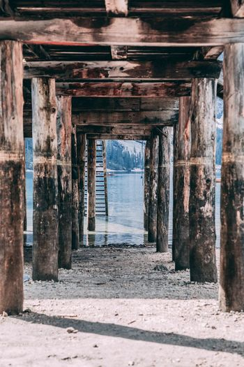 Underneath View Of Pier At Lakeshore