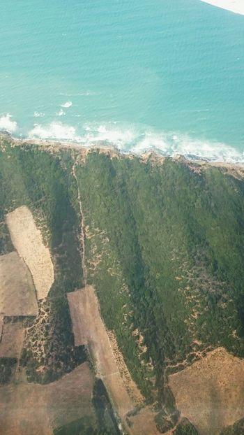 Annaba Algeria Airplain Window Sea Terre Et Mer Vagues Memories