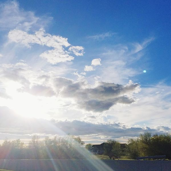Cloud - Sky Sky No People Day Outdoors Tranquility Nature Scenics Mountain Beauty In Nature Tree Sky_ Collection Beauty In Nature Nature Tranquility Sunlight Flares In Nature