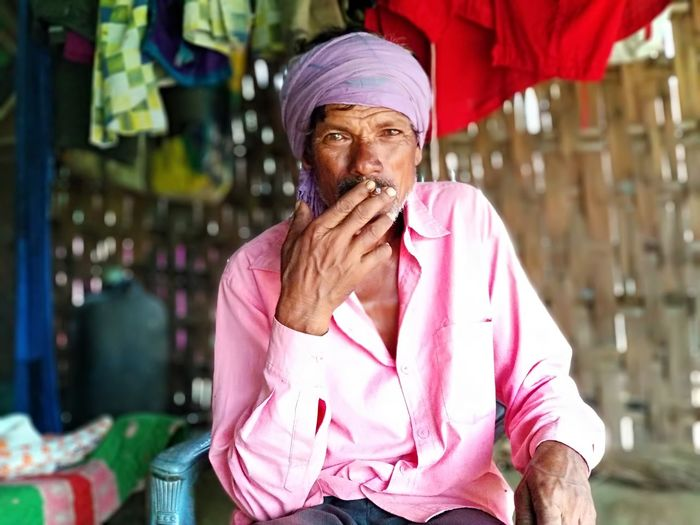 Village Villege People Smoking - Activity Old Man Portrait Men Headshot Smiling Turban Thoughtful