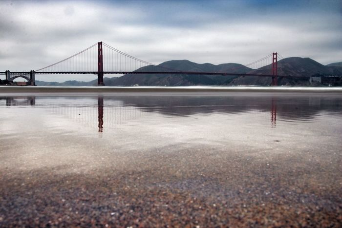 Water reflections of the Golden Gate Bridge. - EyeEm Best Shots Golden Gate Bridge Water Reflections Time To Reflect